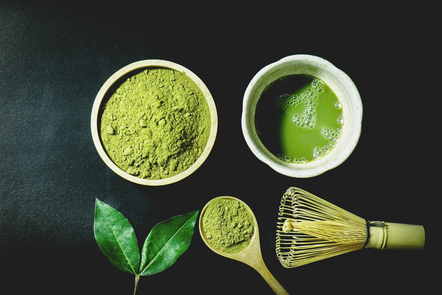 Preparation of matcha tea
